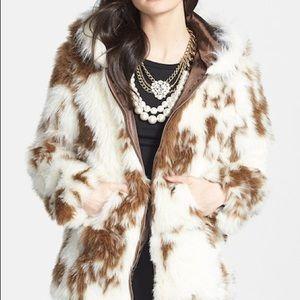 Lark 'Nordstrom' Faux Fur Hooded Jacket XS